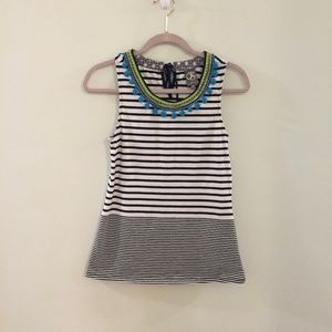 ANTHRO One September Colorpom striped Tank top